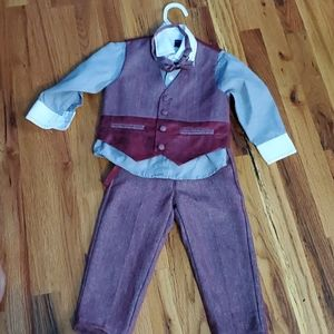 4 piece toddler boy suit